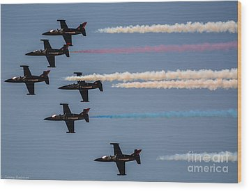 Patriot Aerial Demonstration Team Wood Print by Tommy Anderson