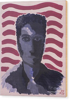 Patriotic 2002 Wood Print by Joseph A Langley