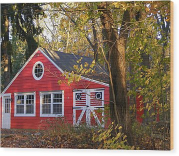 Wood Print featuring the photograph Patriotic Barn by Margie Avellino