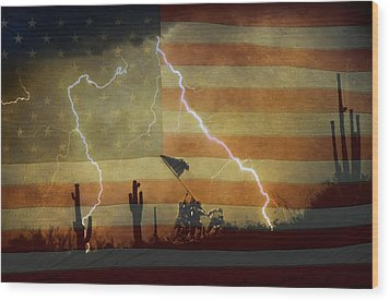 Patriotic Operation Desert Storm Wood Print by James BO  Insogna