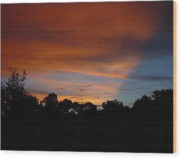 Patriotic Sunset Wood Print by Kerry Beverly
