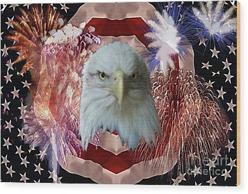 Patriotic Tribute Wood Print