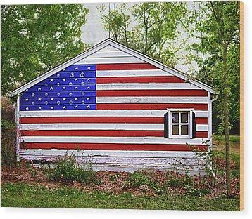 Patriots Garage Wood Print