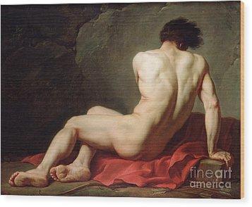 Patrocles Wood Print by Jacques Louis David