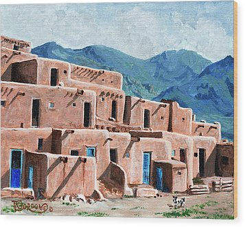 Patrolling The Pueblo Wood Print