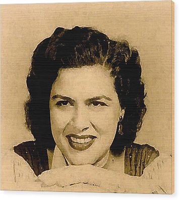 Patsy Cline Wood Print by Jeff DOttavio