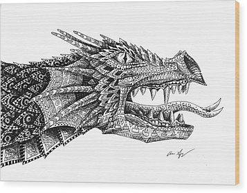 Pattern Design Dragon Wood Print by Aaron Spong