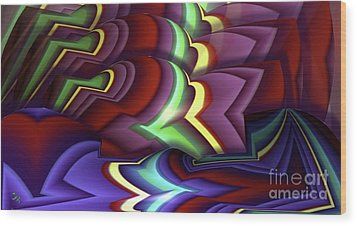 Pattern Wood Print by Ron Bissett