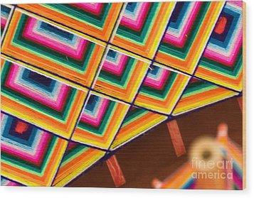 Patterns I Wood Print by Irene Abdou