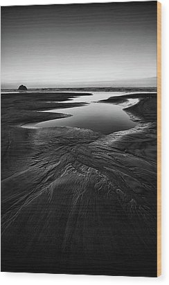 Wood Print featuring the photograph Patterns In The Sand by Jon Glaser