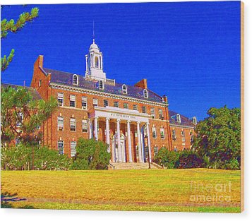 Patterson Hall  Wood Print