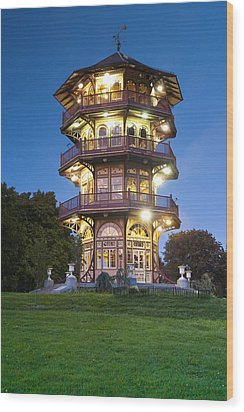 Patterson Park Pagoda. Baltimore Maryland  Wood Print by Matthew Saindon