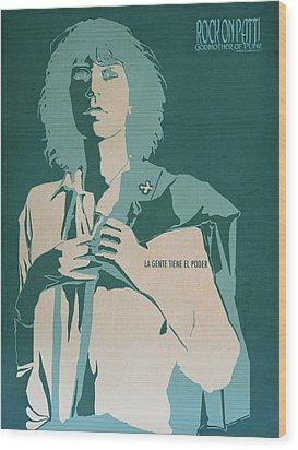 Patti Smith Wood Print