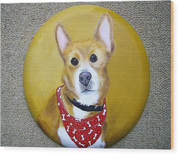 Patti's Grand-dog Wood Print