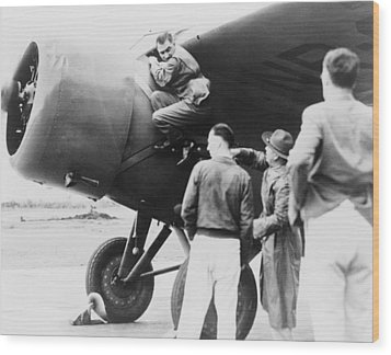 Paul Mantz, Stunt Pilot And Air Racer Wood Print by Everett