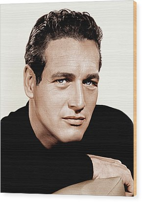 Paul Newman, Ca. 1963 Wood Print by Everett