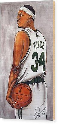 Paul Pierce - The Truth Wood Print by Dave Olsen