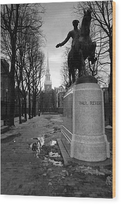 Paul Revere Wood Print by Andrew Kubica