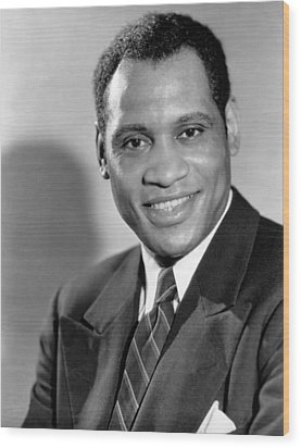 Paul Robeson, Ca. 1930s Wood Print by Everett
