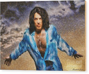 Paul Stanley Of Kiss Wood Print by Elizabeth Coats