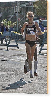 Paula Radcliffe Nyc Marathon Wood Print