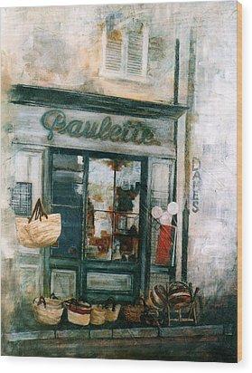 Paulette Wood Print by Victoria Heryet