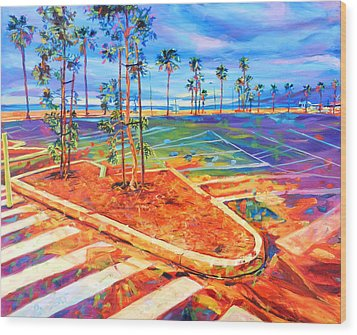 Paved Paradise Wood Print by Bonnie Lambert