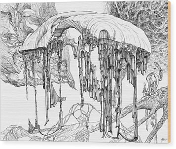 Pavilion Wood Print by Charles Cater