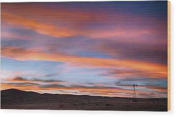 Pawnee Sunset Wood Print by Monte Stevens