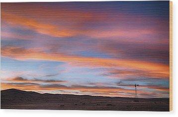 Pawnee Sunset Wood Print
