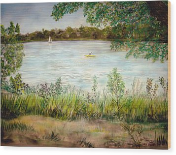 Paynes Prairie Lake Wood Print