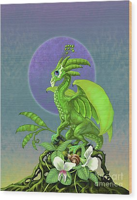 Pea Pod Dragon Wood Print by Stanley Morrison