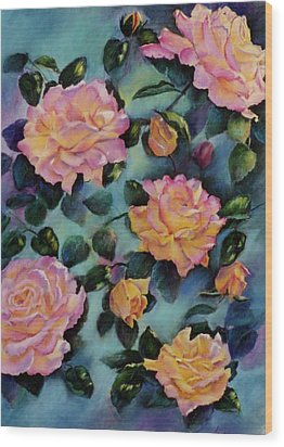 Wood Print featuring the painting Peace by Ann Peck