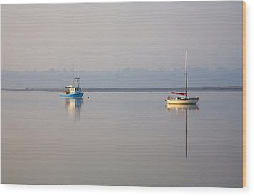 Peace At Anchor Wood Print by Mike  Dawson