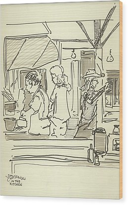 Peace Camp Saturday Kitchen Crew Wood Print by James Christiansen