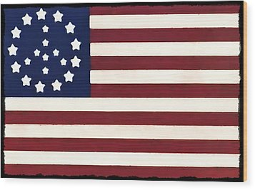 Peace Flag Wood Print by Bill Cannon