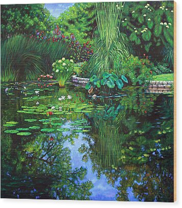 Peace Floods My Soul Wood Print by John Lautermilch