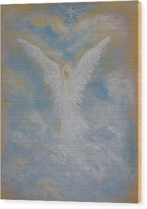 Peace From An Angel  Wood Print