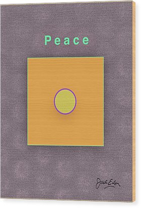 Peace Wood Print by Jack Eadon