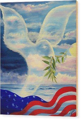 Peace Wood Print by Joni McPherson