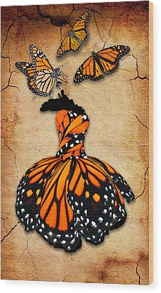 Wood Print featuring the mixed media Peace Of Mind by Marvin Blaine