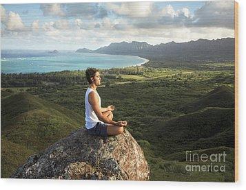 Peace On A Hillside Wood Print by Brandon Tabiolo - Printscapes