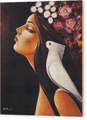 Peace On My Shoulder Wood Print by Ognian Kouzmanov