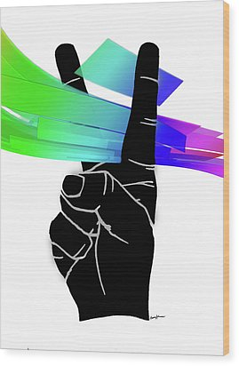 Peace Ribbons Wood Print by Anthony Caruso