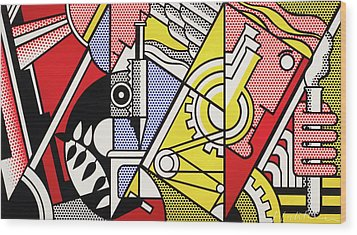 Peace Through Chemistry I Wood Print by Roy Lichtenstein