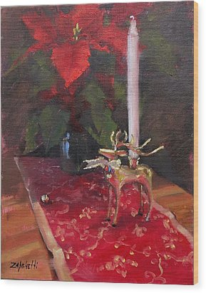 Wood Print featuring the painting Peace To All by Laura Lee Zanghetti