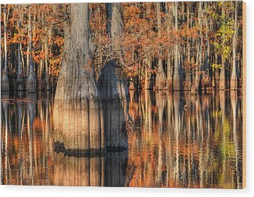 Peaceful Autumn Afternoon Wood Print by Ester  Rogers