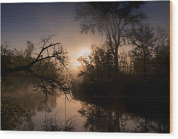 Peaceful Calm Wood Print by Annette Berglund