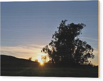 Wood Print featuring the photograph Peaceful Country Sunset  by Matt Harang
