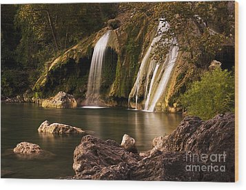 Wood Print featuring the photograph Peaceful Day At Turner Falls by Tamyra Ayles